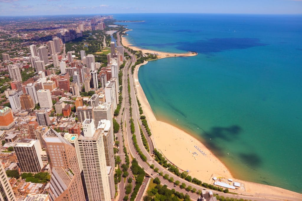 Gold Coast scenic view Chicago USA.