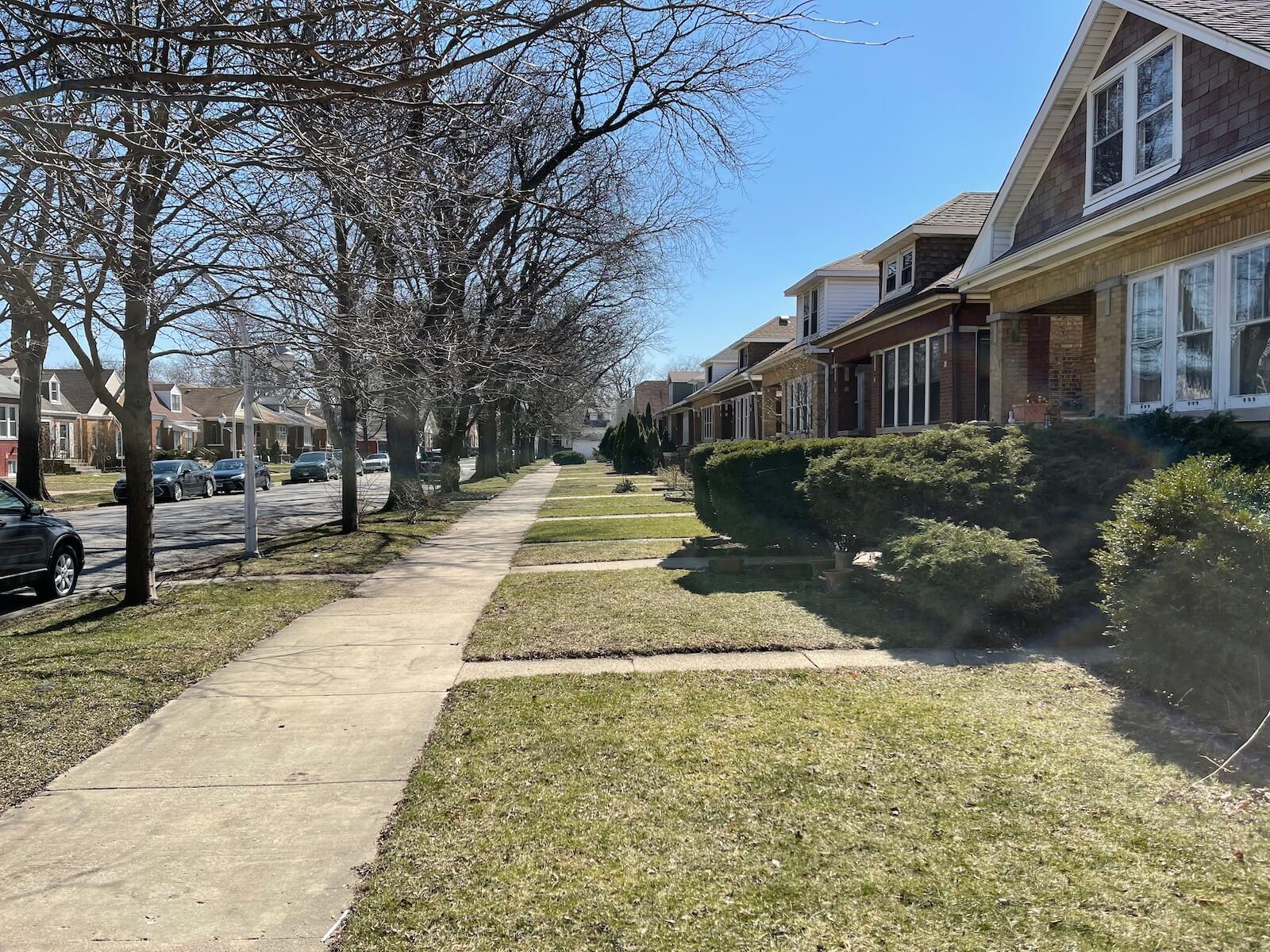 a neighborhood in portage park