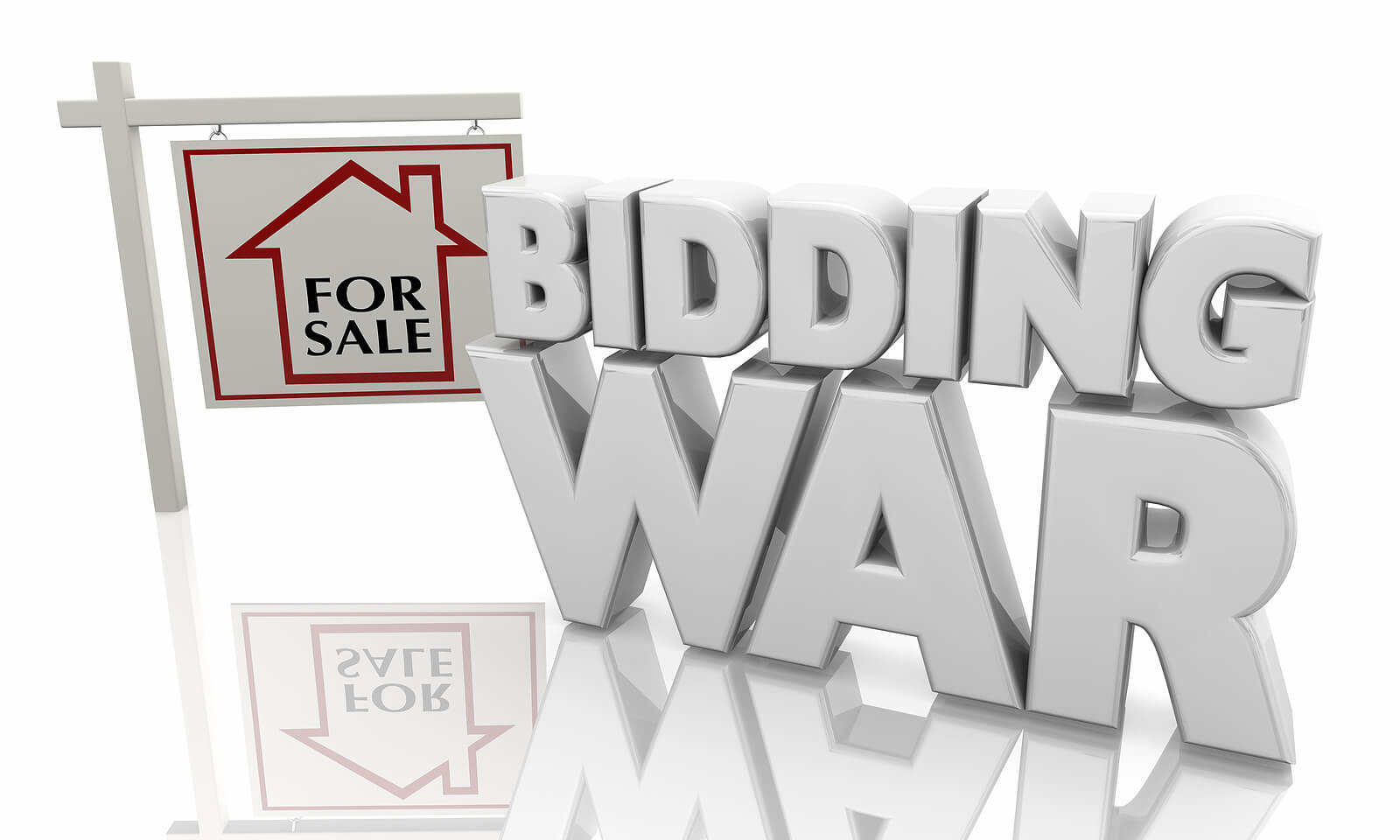 house bidding war sign